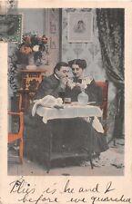 MAN & WOMAN QUARREL & THEN MAKE UP~SERIES LOT OF 4 ROMANCE PHOTO POSTCARDS 1906