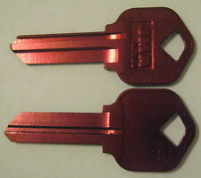 2 RED BLANK HOUSE KEYS FOR 5 PIN KWIKSET LOCKS KW1 CAN BE PUNCHED TO YOUR CODE