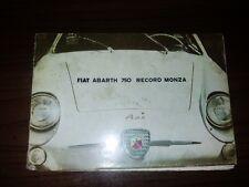 Fiat Abarth 750 Record Monza catalogo Katalog Ersatzteil in tedesco in Deutsch