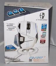 Mad Catz Cyborg R.A.T. 7 RAT Laser Gaming Mouse 6400 dpi for PC Mac White