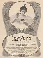 Lowney's Chocolates Advertising-Boston, MA-Candy-1901 ANTIQUE VINTAGE ART PRINT