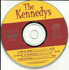 THE KENNEDYS Life is Large w/ RARE ACOUSTIC TRK PROMO radio DJ CD single 1996