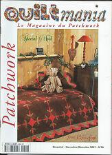 QUILTMANIA N°26 LE MAGAZINE DU PATCHWORK SPECIAL NOEL DECEMBRE 2001