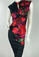 Ted Baker New 2 US 38 IT XS Red Black Green Floral Cocktail Dress Runway Auth