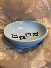 Whisker City Cat Bowl Dish Blue