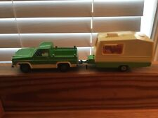 "1/36 Majorette DieCast Toy 4x4 Chevrolet Blazer With Caravan 10"" Long"