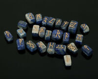 Lapis Lazuli Stone Rune Set Symbols Gemstone Healing Crystal Runes 25 Pieces