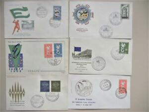 EUROPA: 16 1950S-60S CACHET EUROPA FIRST DAY/EVENT COVERS WITH CORRECT ISSUES
