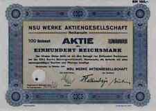 NSU Neckarsulm 1941 FIAT TURIN Weinsberg Ingolstadt 100 Reichsmark WANKEL SPIDER