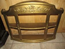 Vintage Syroco Wall Shelf Curio Cabinet Hollywood Regency Gold 1967
