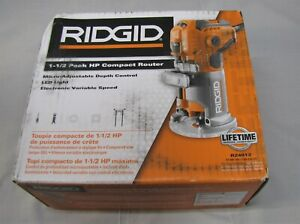 RIDGID 5.5 Amp 1-1/2 HP Corded Compact Router LED Work Light Tool R24012 NEW GS