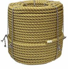 24mm Synthetic Poly Hemp Decking Rope Stair Rope Natural Bannister Rope 10 MTR