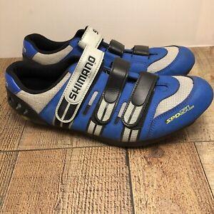 SHIMANO SPD-SL SH-R097M CYCLING SHOES MEN SIZE 13 Blue/black/grey