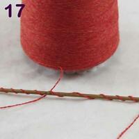 Lot of 1 cone 100g Luxurious Mongolian Pure Cashmere Knitting Yarn Red Orange