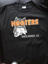 Hooters Sz Large Black California T-Shirt Old Hooters Logo Vintage