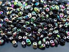 10g SuperDuo Beads Jet Vitrail