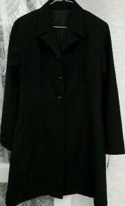 ( Ref 5498 ) New Look - Size 12 - Black Lined Long Sleeve Jacket / Coat BNWT