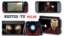 Nintendo Switch Console Joy-Con Skin Sticker Cover #60 Iron man Ironman a AN11