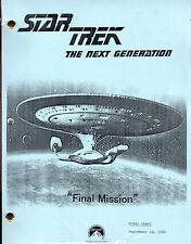 Star Trek Script - TNG - Final Mission - 1990
