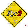 ROTARY STICKER for RX2 RX3 RX4 RX7 RX8 R100 - STREET SIGN ROTARY RX-2 #01
