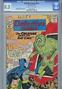1961 DC COMICS DETECTIVE #291 CGC 8.5 - BATMAN - THE CREATURE FROM THE BAT-CAVE