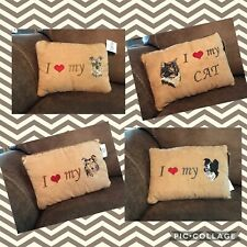 """Pawfect Gifts Plush Pillow I Love My """"Pet� Multiple Breeds Cats Dogs 25% Off 2+"""