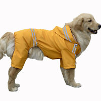 Pet Large Dog Raincoat Clothes Waterproof Rain Jacket Jumpsuit Rain Coat Hoodies