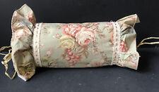 RALPH LAUREN Vintage *CHARLOTTE Bolster NECKROLL *CUSTOM PILLOW Floral Green