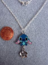 "Stitch Enamel Pendant Necklace 18"" Lilo and Stitch Birthday Gift Present # 45"
