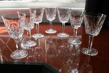 """7 WATERFORD CRYSTAL """"LISMORE"""" LARGE GLASSES CIRCA 1970's 5.7/8"""" TALL LOVELY"""