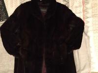 Vintage Sakowitz Mink Fur Coat For Repair Or Cutters
