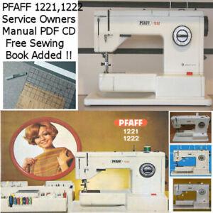 PFAFF 1221 1222 Service Owners Manual PDF CD + FREE SEWING TECHNICS EBOOK  ADDED