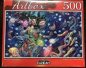 Artbox 500 Piece jigsaw Puzzle - Mermaid 18.25 inches X 11 inches