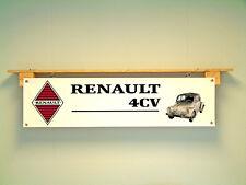 RENAULT 4CV Bannière garage atelier Rétro Classique show de Voiture Banner 4 CV