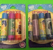 6 Lip Smacker Lip Balms ~ Disney Inside Out Collection RARE ~ Free Gift
