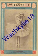 Le miroir n°57 du 27/04/1913 Anna Pavlova Danse Ballerine Daucourt Chine Longyu