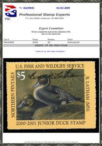 #JDS8s 2000 $5 VF 80 NH **Artist Signed** Junior Duck Stamp PSE