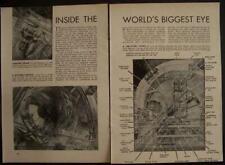 1946 Mount PALOMAR TELESCOPE Graphic Artist pictorial