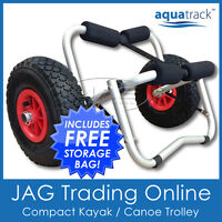 AQUATRACK COMPACT COLLAPSIBLE KAYAK TROLLEY - Alloy Canoe/Ski Carrier Cart 100kg
