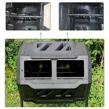 Compost Tumbler 43-Gal Garden Waste Bin Grass Food Trash Barrel Fertilizer Ejwox
