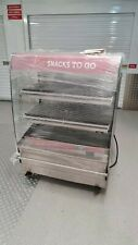 More details for hot food pie pasties sausage rolls warmer heated display cabinet multi-deck