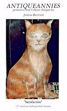 SATISFACTION CAT PATTERN FOLK ART PRIMITIVE -OOP - ANTIQUEANNIES-JANENA BARTRAM