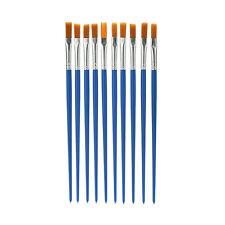 10x/Set Paint Brush Set New Nylon Blue Brush Kid Watercolor Drawing Painting BD