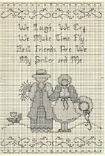 Sweetheart Tree MY SYSTER AND ME Cross Stitch Chart/Card ~ sampler