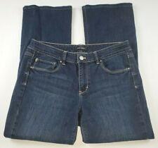 White House Black Market Womens Jeans Sz 10 Short Boot Leg Dark Wash Denim **