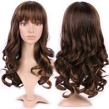Vogue Womens Wig Cosplay Full Wig Long Straight Layer Honey Blonde Medium Brown
