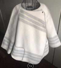 karen millen Uk 16 It 48 poncho mantella lana nuovo originale