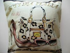 Italian Shoe Bag Sunglasses  Cotton Blend Cushion Cover Gift  FREEPOST