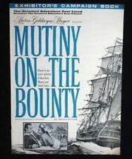 Mutiny on the Bounty- 1963 Marlon Brando movie pressbook w/ads & poster images