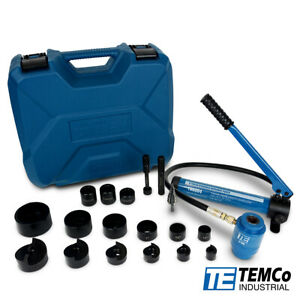 "TEMCo 2"" HYDRAULIC KNOCKOUT PUNCH Electrical Conduit Hole Cutter Set KO Tool Kit"